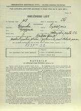 Popis prebivalstva 31. 3. 1931<br />Ljubljana<br />Dolenjska cesta 2 22<br />Population census 31 March 1931