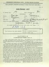 Popis prebivalstva 31. 3. 1931<br />Ljubljana<br />Dolenjska cesta 2 25<br />Population census 31 March 1931