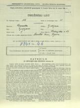 Popis prebivalstva 31. 3. 1931<br />Ljubljana<br />Dolenjska cesta 2 29<br />Population census 31 March 1931