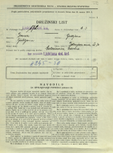 Popis prebivalstva 31. 3. 1931<br />Ljubljana<br />Dolenjska cesta 2 30<br />Population census 31 March 1931