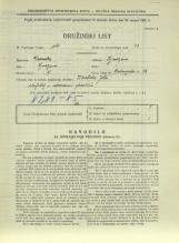 Popis prebivalstva 31. 3. 1931<br />Ljubljana<br />Dolenjska cesta 2 54<br />Population census 31 March 1931