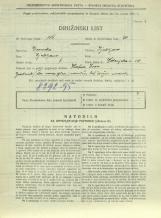Popis prebivalstva 31. 3. 1931<br />Ljubljana<br />Dolenjska cesta 2 58<br />Population census 31 March 1931