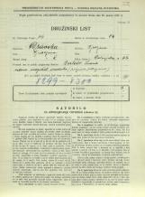 Popis prebivalstva 31. 3. 1931<br />Ljubljana<br />Dolenjska cesta 2 62<br />Population census 31 March 1931