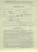 Popis prebivalstva 31. 3. 1931<br />Ljubljana<br />Dolenjska cesta 2 64<br />Population census 31 March 1931