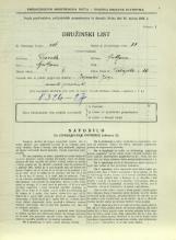Popis prebivalstva 31. 3. 1931<br />Ljubljana<br />Dolenjska cesta 2 66<br />Population census 31 March 1931