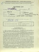 Popis prebivalstva 31. 3. 1931<br />Ljubljana<br />Dolenjska cesta 2 3<br />Population census 31 March 1931