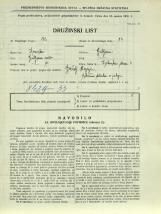 Popis prebivalstva 31. 3. 1931<br />Ljubljana<br />Dolinska steza 4<br />Population census 31 March 1931