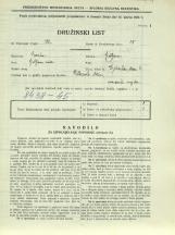 Popis prebivalstva 31. 3. 1931<br />Ljubljana<br />Dolinska steza 6<br />Population census 31 March 1931