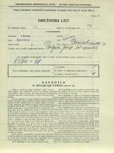 Popis prebivalstva 31. 3. 1931<br />Ljubljana<br />Domobranska cesta 17<br />Population census 31 March 1931