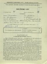 Popis prebivalstva 31. 3. 1931<br />Ljubljana<br />Dunajska cesta 100<br />Population census 31 March 1931
