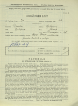 Popis prebivalstva 31. 3. 1931<br />Ljubljana<br />Dunajska cesta 125<br />Population census 31 March 1931