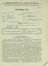 Popis prebivalstva 31. 3. 1931<br />Ljubljana<br />Dunajska cesta 127<br />Population census 31 March 1931