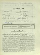 Popis prebivalstva 31. 3. 1931<br />Ljubljana<br />Dunajska cesta 16<br />Population census 31 March 1931