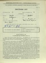Popis prebivalstva 31. 3. 1931<br />Ljubljana<br />Dunajska cesta 21<br />Population census 31 March 1931
