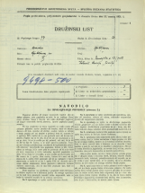 Popis prebivalstva 31. 3. 1931<br />Ljubljana<br />Dunajska cesta 23<br />Population census 31 March 1931