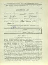 Popis prebivalstva 31. 3. 1931<br />Ljubljana<br />Dunajska cesta 41<br />Population census 31 March 1931