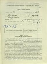 Popis prebivalstva 31. 3. 1931<br />Ljubljana<br />Dunajska cesta 5<br />Population census 31 March 1931