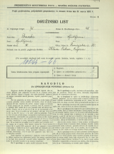 Popis prebivalstva 31. 3. 1931<br />Ljubljana<br />Dunajska cesta 50<br />Population census 31 March 1931