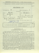 Popis prebivalstva 31. 3. 1931<br />Ljubljana<br />Dunajska cesta 52<br />Population census 31 March 1931