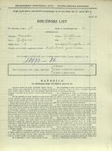Popis prebivalstva 31. 3. 1931<br />Ljubljana<br />Dunajska cesta 58<br />Population census 31 March 1931