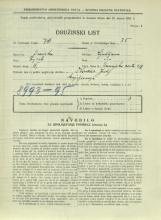 Popis prebivalstva 31. 3. 1931<br />Ljubljana<br />Dunajska cesta 6<br />Population census 31 March 1931