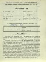 Popis prebivalstva 31. 3. 1931<br />Ljubljana<br />Dunajska cesta 61<br />Population census 31 March 1931