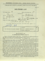 Popis prebivalstva 31. 3. 1931<br />Ljubljana<br />Dunajska cesta 66<br />Population census 31 March 1931