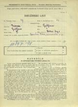 Popis prebivalstva 31. 3. 1931<br />Ljubljana<br />Dvorni trg 1<br />Population census 31 March 1931