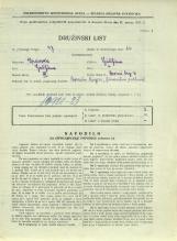 Popis prebivalstva 31. 3. 1931<br />Ljubljana<br />Dvorni trg 3<br />Population census 31 March 1931