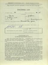 Popis prebivalstva 31. 3. 1931<br />Ljubljana<br />Einspielerjeva ulica 20<br />Population census 31 March 1931