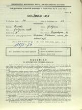 Popis prebivalstva 31. 3. 1931<br />Ljubljana<br />Einspielerjeva ulica 23<br />Population census 31 March 1931