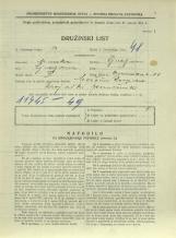Popis prebivalstva 31. 3. 1931<br />Ljubljana<br />Emonska cesta 11<br />Population census 31 March 1931