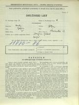 Popis prebivalstva 31. 3. 1931<br />Ljubljana<br />Florijanska ulica 13<br />Population census 31 March 1931