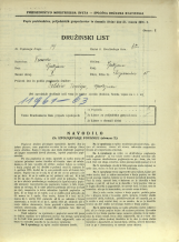 Popis prebivalstva 31. 3. 1931<br />Ljubljana<br />Florijanska ulica 15<br />Population census 31 March 1931