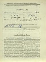 Popis prebivalstva 31. 3. 1931<br />Ljubljana<br />Frankopanska ulica 21<br />Population census 31 March 1931