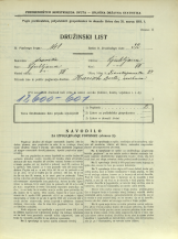 Popis prebivalstva 31. 3. 1931<br />Ljubljana<br />Frankopanska ulica 23<br />Population census 31 March 1931