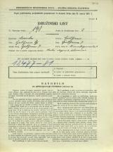 Popis prebivalstva 31. 3. 1931<br />Ljubljana<br />Frankopanska ulica 3<br />Population census 31 March 1931