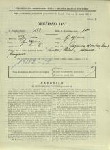 Popis prebivalstva 31. 3. 1931<br />Ljubljana<br />Galjevica 110<br />Population census 31 March 1931