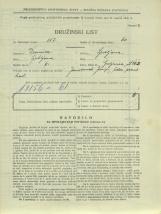 Popis prebivalstva 31. 3. 1931<br />Ljubljana<br />Galjevica 112<br />Population census 31 March 1931