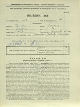 Popis prebivalstva 31. 3. 1931<br />Ljubljana<br />Galjevica 114<br />Population census 31 March 1931