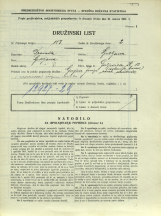 Popis prebivalstva 31. 3. 1931<br />Ljubljana<br />Galjevica 12<br />Population census 31 March 1931