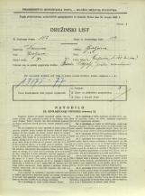 Popis prebivalstva 31. 3. 1931<br />Ljubljana<br />Galjevica 122<br />Population census 31 March 1931