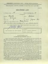 Popis prebivalstva 31. 3. 1931<br />Ljubljana<br />Galjevica 13<br />Population census 31 March 1931