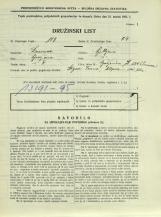 Popis prebivalstva 31. 3. 1931<br />Ljubljana<br />Galjevica 130<br />Population census 31 March 1931