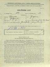 Popis prebivalstva 31. 3. 1931<br />Ljubljana<br />Galjevica 132<br />Population census 31 March 1931