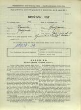 Popis prebivalstva 31. 3. 1931<br />Ljubljana<br />Galjevica 14<br />Population census 31 March 1931