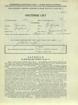 Popis prebivalstva 31. 3. 1931<br />Ljubljana<br />Galjevica 60<br />Population census 31 March 1931