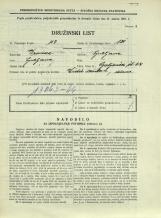 Popis prebivalstva 31. 3. 1931<br />Ljubljana<br />Galjevica 64<br />Population census 31 March 1931