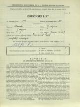 Popis prebivalstva 31. 3. 1931<br />Ljubljana<br />Galjevica 7<br />Population census 31 March 1931