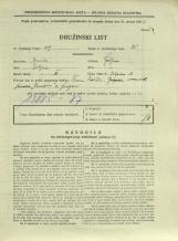 Popis prebivalstva 31. 3. 1931<br />Ljubljana<br />Galjevica 80<br />Population census 31 March 1931